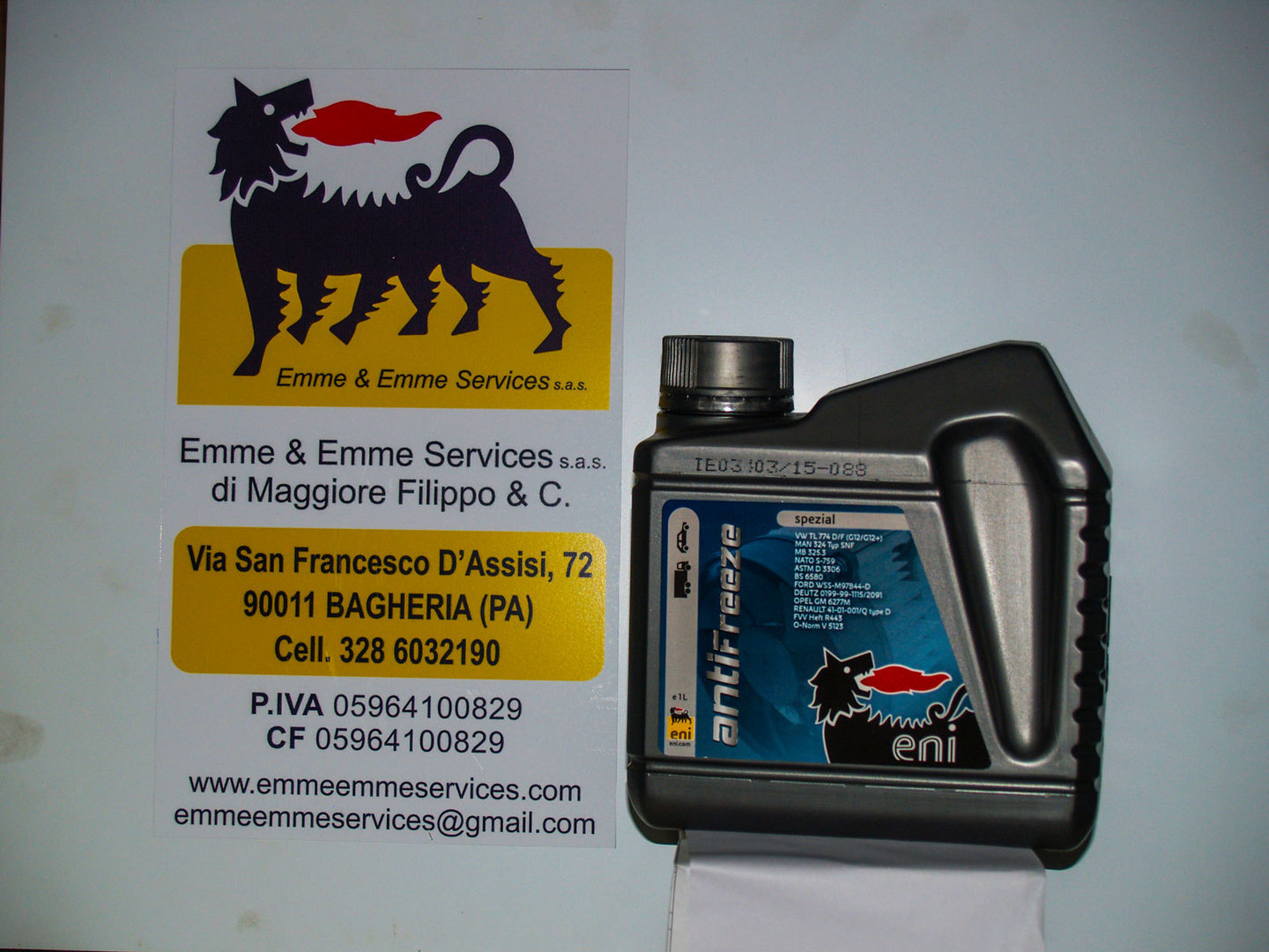 Engine Coolant Red Eni Antifreeze Spezial Emme Services Gm